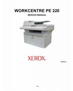 Xerox WorkCentre PE-220 Parts List and Service Manual