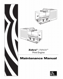 Zebra Label 170PAX4 Maintenance Service Manual