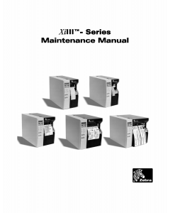 Zebra Label 90 96 140 170 220 XiIII Maintenance Service Manual