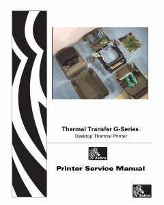 Zebra Label GK420t GX420t GX430t Maintenance Service Manual