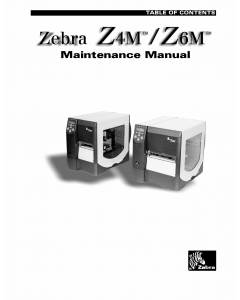 Zebra Label Z4M Z6M Maintenance Service Manual