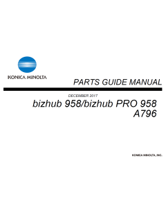 Konica-Minolta bizhub 958 Parts Manual
