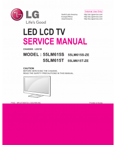 LG LCD TV 55LM615S 55LM615T Service Manual