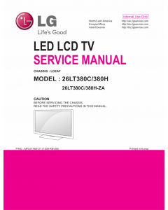 LG LED TV 26LT380C 26LT380H Service Manual