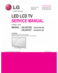 LG LED TV 32LS570S 32LS570T Service Manual