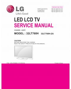 LG LED TV 32LT760H Service Manual