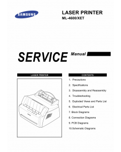 Samsung Laser-Printer ML-4600 Parts and Service Manual