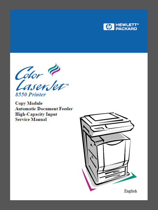 HP Color LaserJet 8550 MFP Service Manual-1