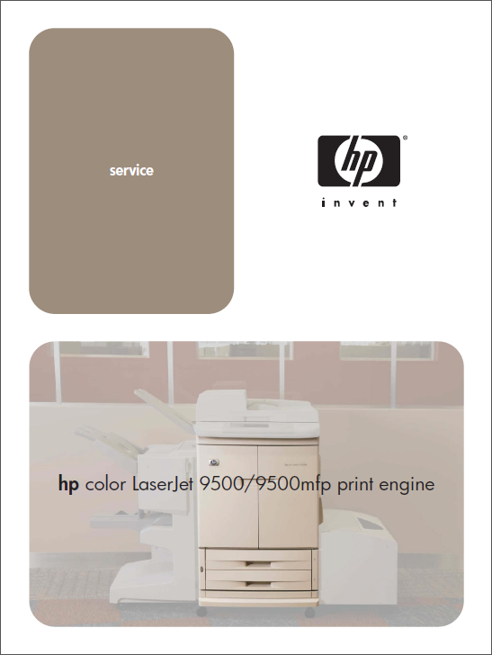HP Color LaserJet 9500 MFP Service Manual-1