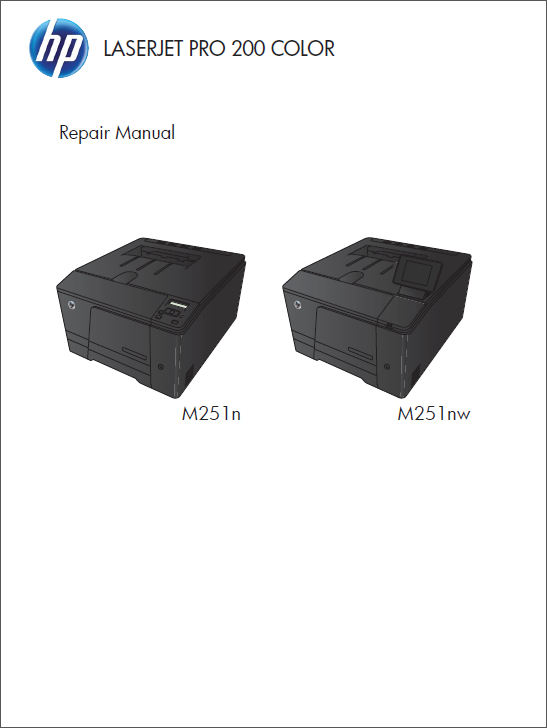 HP Color LaserJet M251 Service Repair Manual-1