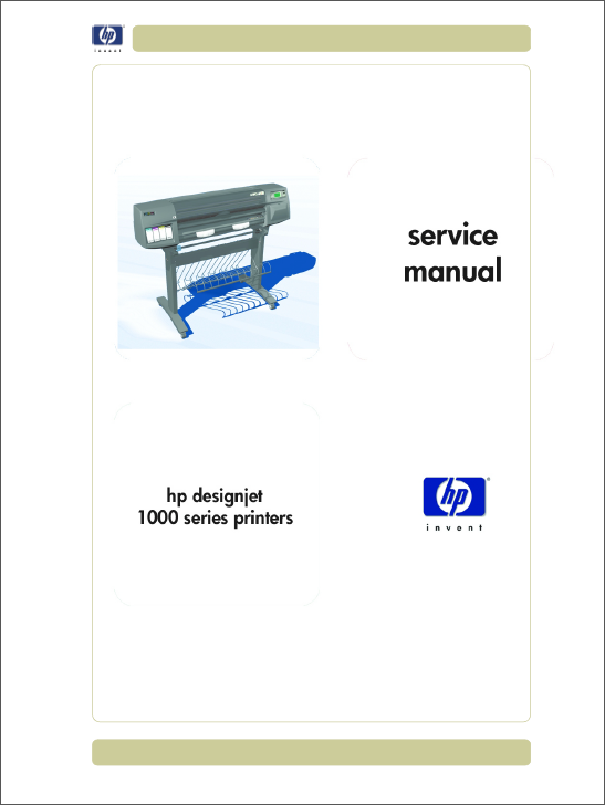 HP Designjet 1000 Service Manual-1