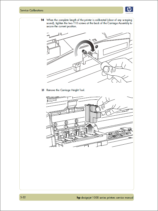 HP Designjet 1000 Service Manual-4