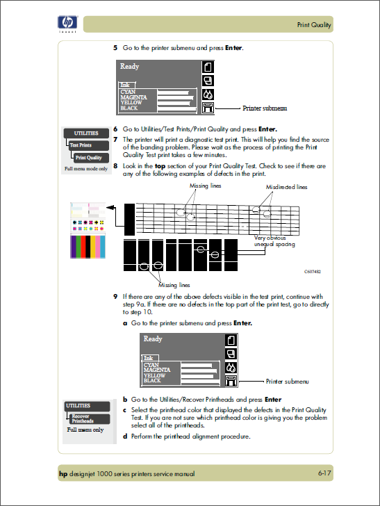 HP Designjet 1000 Service Manual-5