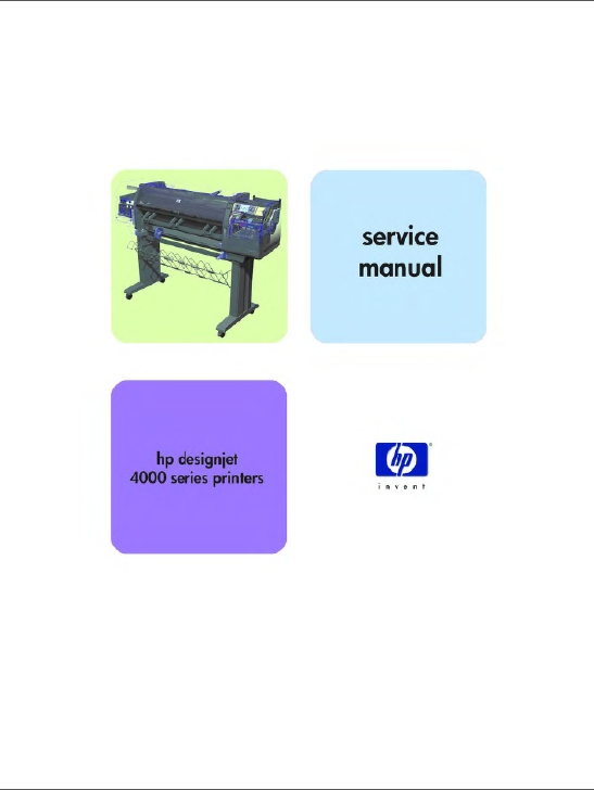 HP Designjet 4000 Service Manual-1