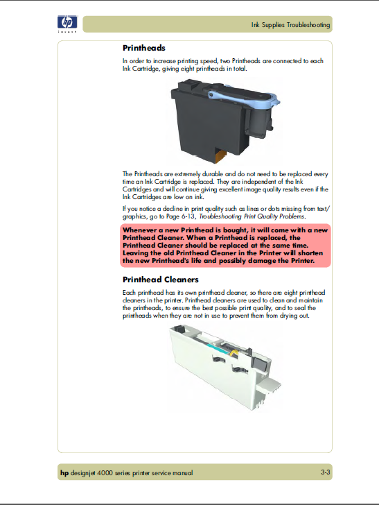 HP Designjet 4000 Service Manual-3